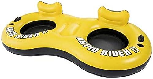 Aufblasbares Doppelschwimmbad-Schwimmbecken Schwimmring, mit Griff-und Getr eherstellern, SommerBeach Floats und Loungers for Adults and Kids, 259 x 135cm