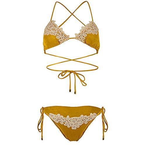 MIIAOPAI Bikini-Dames Haben Sexy Beachwear Badpak Set Opgedeeld
