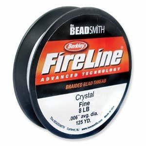 FireLine Braided Beading Thread 8lb Crystal .009 In 125 Yards