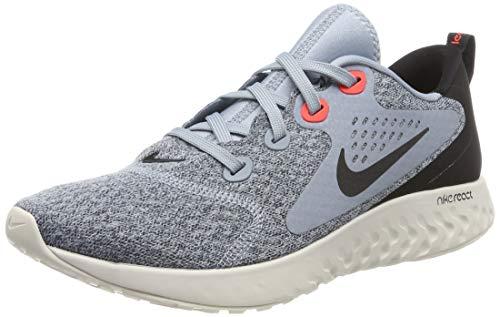 Nike Legend React, Zapatillas de Atletismo para Hombre, Multicolor (Obsidian Mist/Black/Bright Crimson 000), 45 EU