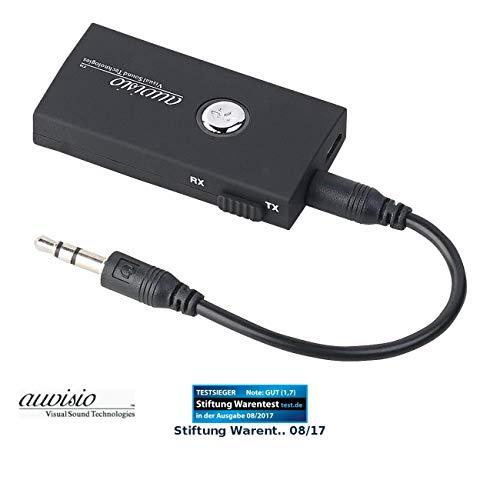 auvisio Adapter, Bluetooth: 2in1-Audio-Sender und -Empfänger mit Bluetooth 3.0, 10 m Reichweite (Transmitter Receiver, Bluetooth)