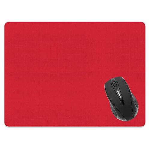 Extra Large (X-Large) Size Non-Slip Rectangle Mousepad, FINCIBO Solid Favorite Red Mouse Pad for Home, Office and Gaming Desk