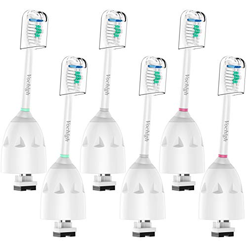 Price comparison product image Vochigh Replacement Toothbrush Heads Compatible with Philips Sonicare E-Series HX7022 / 66,  fits Sonicare Advance,  Elite,  Essence,  Xtreme and Cleancare Electric Brush Handles,  6 Pack
