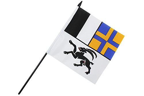 Creation Gross Fahne Flagge Graubünden 16 x 16 cm mit Plastikstab (2er Set) (0140116)