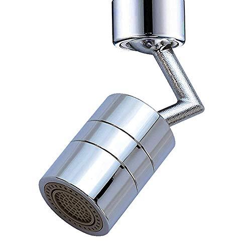 THETAG Spritzfilter Wasserhahn, 720° drehbarer Wasserhahn-Sprühkopf Wasserhahn Filter Wasserhahn Aufsatz Wasserhahnbelüfter Schwenkbar Wassersparer
