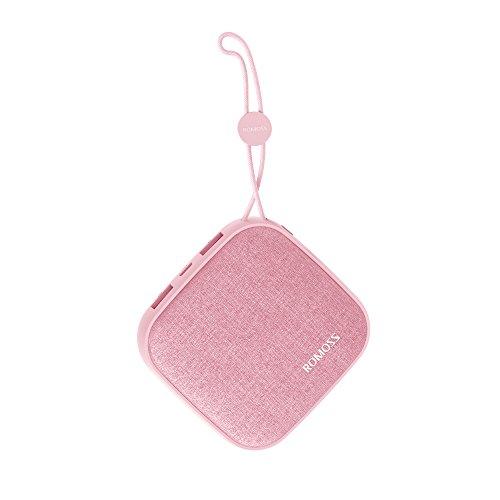 Romoss Powerbank 10000mAh, Externer Akku mit 2-Port Output Mini, Akkupack mit LED-Statusanzeige für i Phone, S umsung, Huawei und Handys, Smartphones, Tablets, usw. Pink