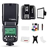 Godox TT685S 2.4G HSS 1/8000S TTL GN60 Flash Speedlite with X1T-S Trigger Transmitter Kit, Flash Diffuser Softbox and Flash Color Filters Compatible for Sony A58 A7RII A7II A99 A9 A7R A6300
