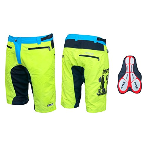 Force MTB-11 Short, kurze Fahrradhose super Passform (fluo, XL)