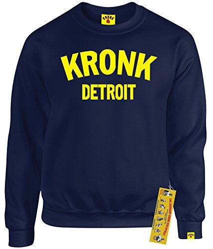 Kronk Boxen-T-Shirt für Herren, Detroit, Herren-Sweatshirt, Klitschko, Hearns Gr. S, navy