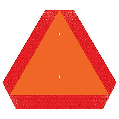 "Ignixia Slow Moving Vehicle Sign, Rust free Aluminium Slow Moving Vehicle Triangle signs, 14""x 16"" Inches Orange base with Reflective border, SMV Sign for Golf Cart, UTV, safety signs"