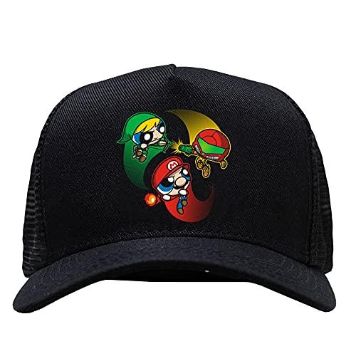Bone preto telinha regulavel Super Poderosas Smash Bros