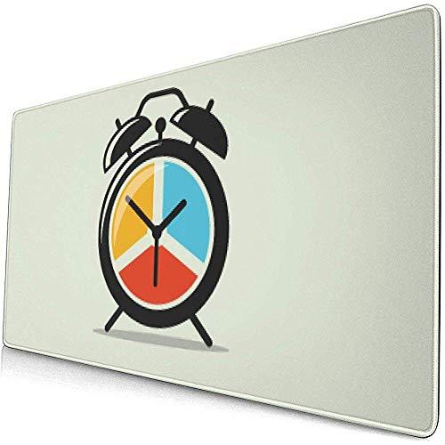 Tappetino per mouse da gioco colorato con motivo a orologio colorato