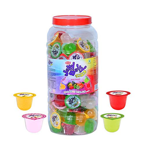 MAHAK Fruit Jelly Belly Cup | Mix Fruit | Jar | Pack of 110 Jelly | Vegetarian | Specially for Kids |