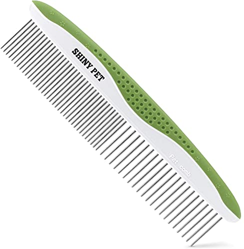 Dog Comb for Removes Tangles and Knots - Cat Comb for Removing Matted Fur - Grooming Tool with Stainless Steel Teeth and Ergonomic Grip Handle - Pet Hair Comb for Home Grooming Kit - Ebook Guide