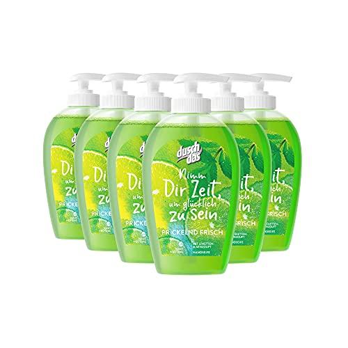 Duschdas Flüssigseife 6er Pack Limette & Minze mit antibakterieller Wirkung pH-hautneutral (6x250 ml)