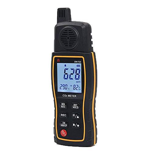 Tragbarer Kohlendioxid Detektor - Detektor Tragbarer CO2-Meter-Tester für Kohlendioxid-Luftqualitäts Detektor Tester ℃ / ℉ Umschaltbarer Luftqualitätsmonitor mit Aufbewahrungskoffer