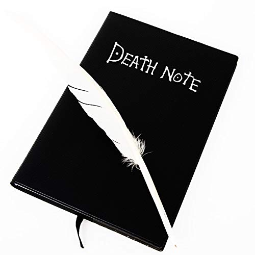 Death Note Notebook/Journal Paperback-Frogwill Anime Death Note Cosplay Notebook Feather Pen