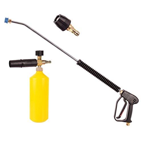 Nettoyeur haute pression professionnel avec tuyau de pulvérisation 90 cm Pistolet M22 x 1,5 AG Buse lance à mousse