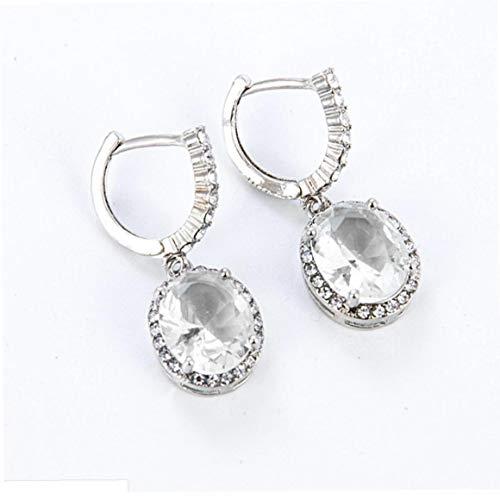 NaisiCore Cuelga los Pendientes Pendientes Mujer Retro del Rhinestone Mujer Gemston Gota para el oído de la Muchacha de la joyería de Plata joyería de fantasía