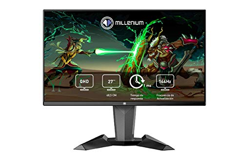 Millenium MD27PRO - Monitor Gaming para e-Sport de 27' QHD 144hz con 1ms (2560 x 1440p, TN, 16:9, 3 x HDMI, Display Port, Sin...