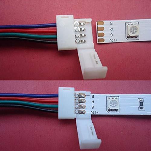 LED-Zubehör 10MM 4 Pin RGB-Anschluss Kabel-Draht-Verlängerungskabel for SMD5050 LED Streifen-Licht für LED-Leuchtbänder (Größe : 100CM)