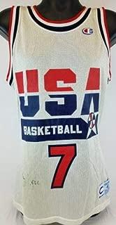 Larry Bird Autographed Signed Team Usa Basketball Champion Jersey (Size XL) JSA COA #S39336