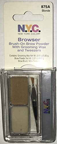 N.Y.C. New York Color Browser Brow Powder with Wax and Tweezer BLONDE 875A