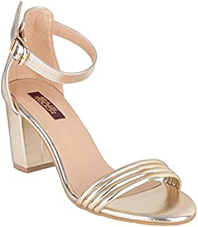 Shuz Touch Synthetic Women Fashion Sandal Golden-37