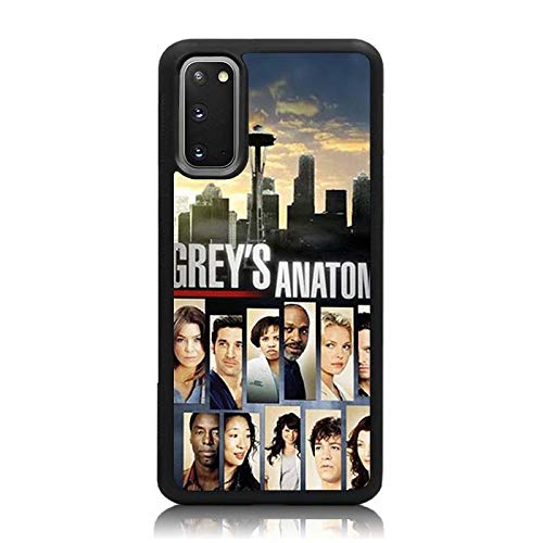 Galaxy S20 Case, Grey's Anatomy Collage Print Soft TPU + Hard Back Shock Absorption Protective Case Cover for Samsung Galaxy S20