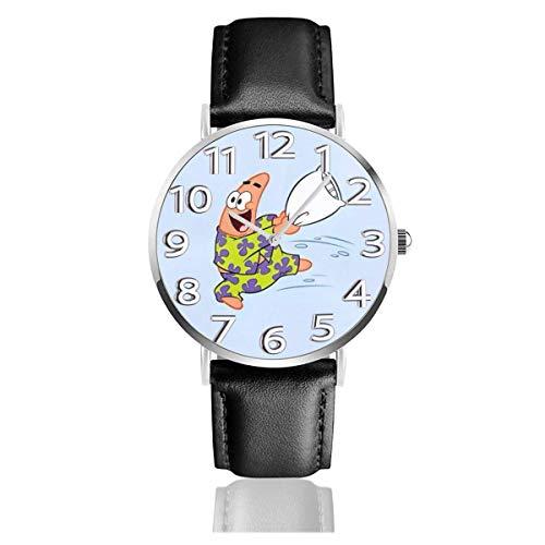 Pickstar Reloj Unisex Easy Reader analógico de Cuarzo de 38 mm con Correa de Cuero