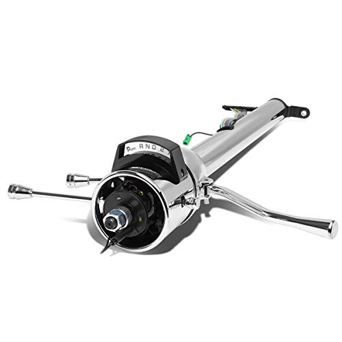 Hot Rod 30 Inches Tilt AT Automatic Style Steering Column Mounted Shifter Compatible with Chevy GM 55-59, Stainless Steel, Polished Chrome