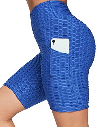 FITTOO Short de Sport Femme Avec Poches Anti-Cellulite Legging Court Sexy Short...