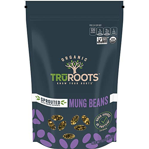 TruRoots Organic Sprouted Mung Beans, 10 Ounces (Pack of 6)