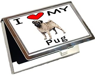 I Love My Pug Business Card Holder