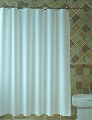 S2F5 Hotel Duschvorhänge Bad Reinweiß Duschvorhang Wasserdicht dicker Vorhang Badezimmer Vorhang, 200 * 240CM