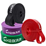 Resistance Band Set 4pcs Pull Up Assist Bands Set for Men & Women, Heavy Duty Workout Stretch Fitness Bands for Chin Ups, Mobility, Powerlifting, Crossfit, Strength Training, Yoga, Home Gym Workouts