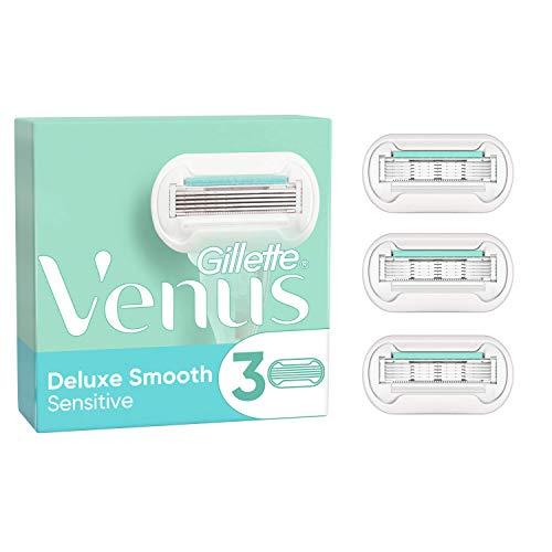 Venus Deluxe Smooth Sensitive - Cuchillas de afeitar (3 unidades)