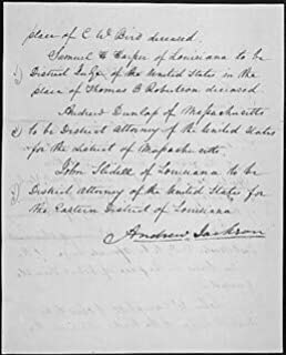 HistoricalFindings Photo: Message of President Andrew Jackson nominating his Cabinet, 03/06/1829 (Page 2