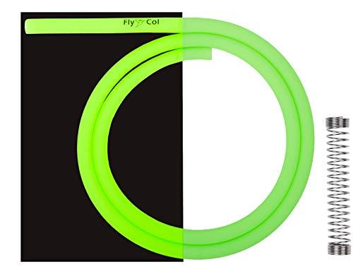 FlyCol Glow-In-Dark Shishaschlauch hochwertiger Silikon Shisha Schlauch Leuchtend im Dunkeln 1,5m Wasserpfeife(Neon-Grün)