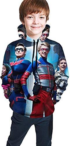 bianlidian Kinder Kapuzen-Sweatshirt Kapuzenpullover Kids/Youth Hoodies He-nRY Da-nG-eR 3D Printed Pullover Hooded Sweatshirts for Boys/Girls