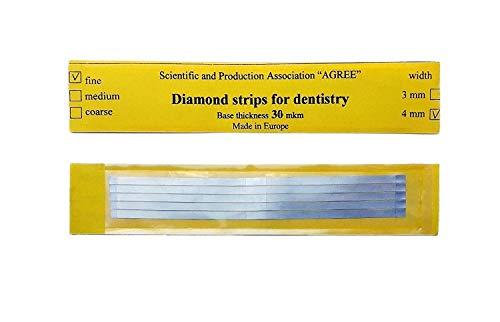 Zubastick Dental Abrasive Stainless Steel Strips Finishing polishing 4mm small 5pcs