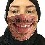 LOLS Lustiger Lippenschutz Aus Baumwolle Mit LäChelndem Gesicht, Mundschutz FüR Mund Und Nase, Geeignet FüR MäNner, Frauen Und Kinder