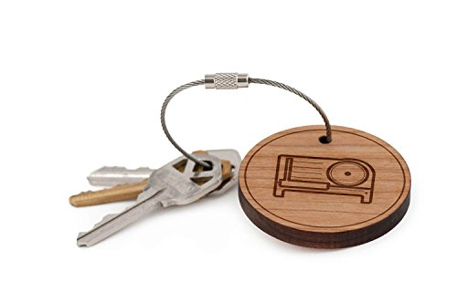 Meat Slicer Keychain, Wood Twist Cable Keychain - Large