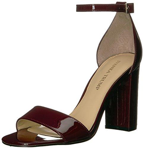 Ivanka Trump Women's Klover Heeled Sandal, Dark Red Patent, 10 Medium US