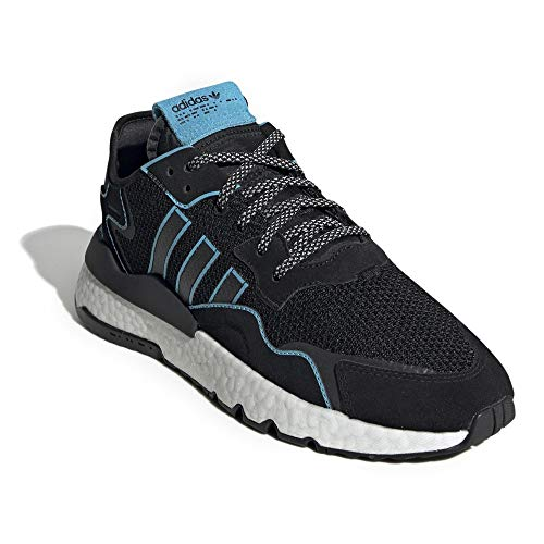 adidas Mens Nite Jogger Lace Up Sneakers Casual Sneakers, Black, 9.5