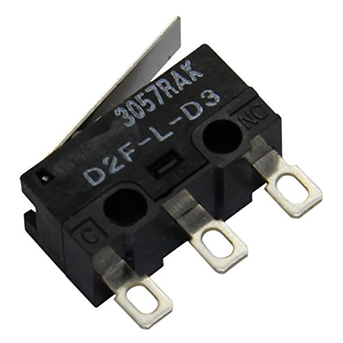 2X D2F-L-D3 Microswitch SNAP ACTION with lever SPDT 3A/125VAC 2A/30VDC OMRON OCB