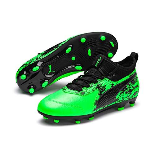 Puma Unisex-Kinder ONE 19.3 FG/AG Jr Fußballschuhe, Grün (Green Gecko Black-Charcoal Gray), 37 EU