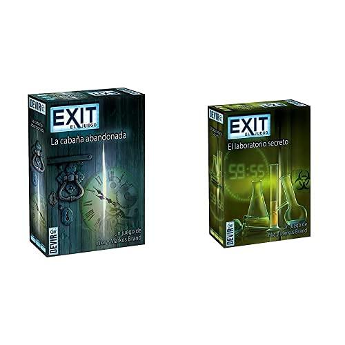 Devir - Exit: La Cabaña Abandonada, Ed; español (Bgexit1)+ Exit: El Laboratorio Secreto, Ed; español (Bgexit3)