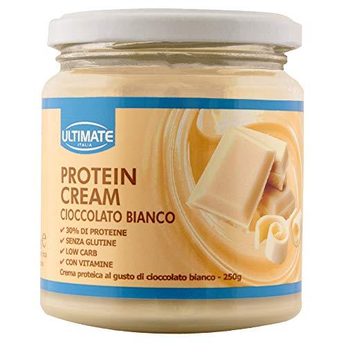 Protein Cream Cioccolato Bianco - Crema Proteica Spalmabile Col 30% Di Proteine Del Siero Del Latte - Whey Isolate Microfiltrate - Senza Glutine - Sen