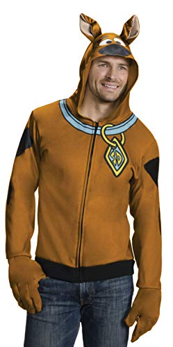 Rubie's Men's Scooby Doo Hoodie, Brown, X-Large